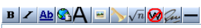 screencap of the edit toolbar
