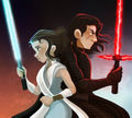 Kylo and Rey by Barbysand Illustration.jpg