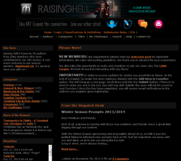 Raising Hell Fan Fiction Archive.png