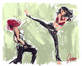 May and Romanoff sparring.jpg